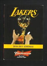 Los Angeles Lakers--2010-11 Pocket Schedule--Budweiser