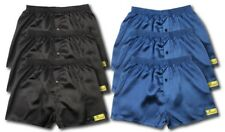 6 PACK OF SATIN BOXER SHORTS NAVY BLACK ALL SIZES AVAILABLE S M L XL XXL S601