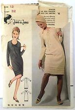 Vintage Butterick 3609. Jean Muir Dress. Sz 12, Bust 32. 60s OOP