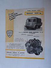 catalogue prospectus  : moteur CLM INDENOR DIESEL pour camion RENAULT 2500kg