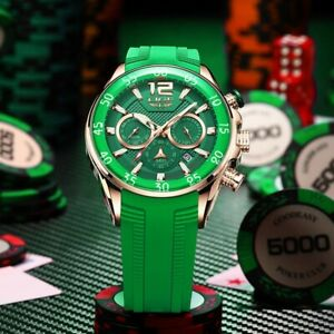 New Fashion LIGE Luxury Waterproof Chronograph Quartz Luminous WristWatch