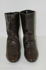 Bottines Boots PROMOD Cuir Marron Bouts Ronds T 39 TBE