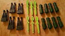GI Joe Heavy Duty PARTS LOT of 19 Chest  Gun , Missiles & Launcher 1991 RARE SEE