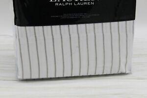 Ralph Lauren Spencer Stripe 230TC Cotton CAL.KING 4-Pc Sheet Set Grey/White $220