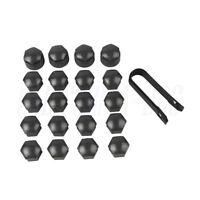Grey 16x17mm Wheel Nut Cover Bolt Cover+Locking Cap For Audi VW Polo Skoda Seat