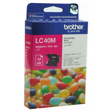 LOT of 2 Genuine Brother LC40M Magenta + LC40Y Yellow Ink Cartridge for DCPJ525W