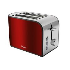 Swan Vintage Rouge 2 Slice Cool Touch Wall Electric Bread Loaf Toaster Defrost