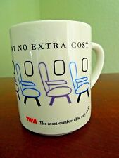 1993 TWA Trans World Airlines Coffee Cup Mug ~ Disappearing Seats / Most Legroom