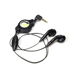 Retractable Headset Handsfree Mic Dual Earbuds Earphones for Smartphones