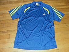 New Adidas Mens Short Sleeve Performance Athletic Shirt Royal-Blue/Volt Xl Nice!