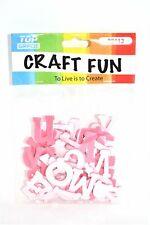 Pink Eva Foam Letters, 52 ct.