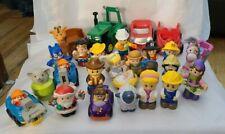Little people Lot of 29 John Deere, Super Heros, Santa, and more