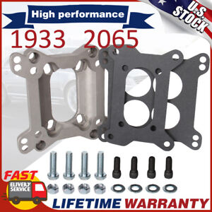 Aluminum Carburetor Adapter 2-Barrel to 4-Barrel Plate Brand 1933 For Chevy SBC