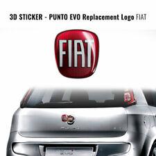 Adesivo Fiat 3D Ricambio Logo per Punto Evo Posteriore
