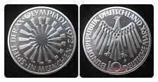 J401b  10 DM Olympiade München SPIRALE MÜNCHEN von 1972 G in PP  471082