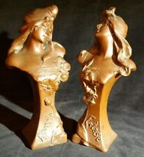 A Pair of 'Royal Zinn' Art Deco Sculptured figures of 'Reverie' and 'Extase'