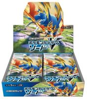 """NEW Pokemon Card Sword & Shield New Expansion """"Sword"""" Sealed Booster Box Japan"""