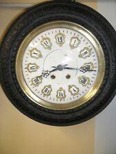 horloge oeil de boeuf en bon état de marche,pendule,mouvement,mécanisme