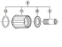 Shimano FH-2400 complete freewheel body
