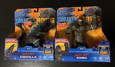 GODZILLA vs KONG SET of 2 - Battle Roar Godzilla & Battle Roar King Kong NEW