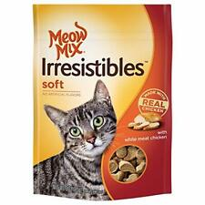 (5 Pack) Meow Mix Irresistibles Soft Chicken Treats for Cats 3 ounces