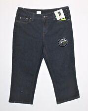 NOW Brand Dark Blue Mid Rise Crop Leg Denim Jeans Size 14 BNWT #TH12