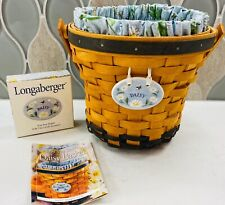1999 RARE! Longaberger May Series DAISY BASKET COMBO Liner Pro Tie-On #13056