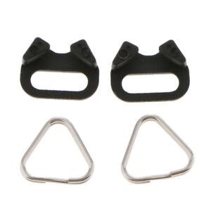 4pcs/set Camera Strap Triangle Split Ring Hook 10mm for Canon Nikon Sony Olympus