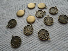 Pack of 20 ~ Pocket Watch Face  ~ Antique Bronze ~ Charms