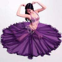Performance Long Skirt Swing Dress Belly Dance Costume Skirts 360 Full Circle