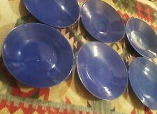 6 SACRIFICIAL blue antique chinese porcelain bowl monochrome table art pottery