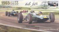 1965a LOTUS 33, BRM P261 FERRARI 158 SILVERSTONE F1 cover signed NEVILLE LEDERLE
