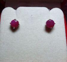 Natural Ruby Not Enhanced White Gold Fine Earrings