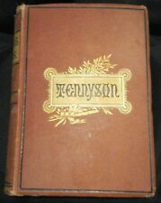 Antique Book The Complete Works Of Alfred Tennyson Poet Illustration 1879