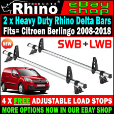 L2 H1 estándar 2 X Barras Portaequipajes Rhino Delta van Peugeot Expert 2017-2018-2019