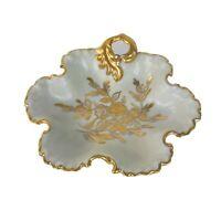 "Hand Painted German Porcelain KALK Candy/Trinket Dish Gold Trim Crossed Arrow 9"""