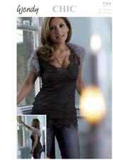 "Wendy Knitting Pattern 5304 Chic Ladies Cropped Shrug 30-40"" Eyelash NEW"