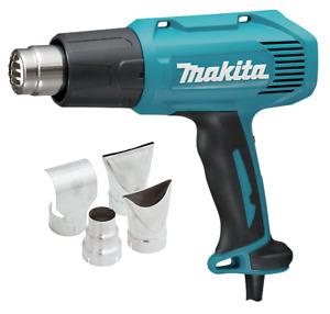 Makita HEAT GUN KIT WITH ACCESSORIES HG6030KIT 1800W 600°C Slide Switch