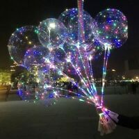 20'' Light Up Balloons LED Glow In The Dark Helium Balloon Christmas Party Decor