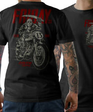 BIKER T-Shirt Jason Horror Friday 13 Cafe Racer Schrauber MC Herren S-5XL