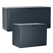 Large Outdoor Storage Box Garden Patio Plastic Chest Lid Container Multibox