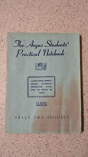 The Argus Students' Practical Notebook 1948  PB j.a.sietz