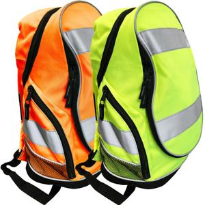 Hi Vis Backpack Work Rucksack High Viz Visibility Reflective Cycling Travel Bags