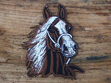 ECUSSON PATCH THERMOCOLLANT aufnaher toppa CHEVAL MARRON / 7.7 CM X 8.5 CM