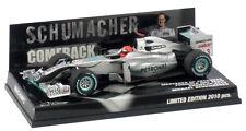 1:43 Minichamps Mercedes W01 - Michael Schumacher 'Comeback' 2010 Showcar - New