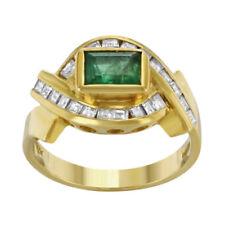 Diamant-Ringe im Cocktail-Stil aus Gelbgold mit echten Edelsteinen