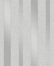 Fine Decor Quartz Grey Silver Stripe Glitter Textured Wallpaper (FD41967)