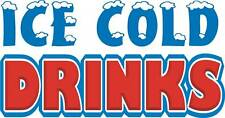 "Ice Cold Drinks Concession Decal 14"" Food Truck Vinyl Letter Sign Sticker"