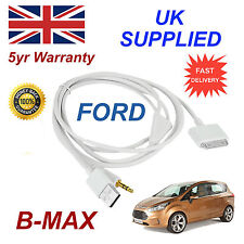 Ford b-max 1529487 3gs 4 4s Para Apple Iphone Ipod Usb Y 3.5 mm Cable Aux Blanco
