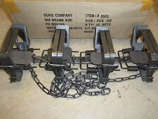 4 New Duke # 4 OFFSET 4X4 Coil Spring Traps  Beaver Bobcat Coyote Lynx Trapping